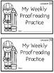 Journey's 1st Grade Daily Proofreading Practice Mini-Books, Unit 6