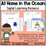 Journey's 1st Grade Lesson 11 At Home in the Ocean Digital Lesson