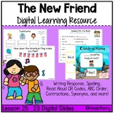 Journey's 1st Grade Lesson 25 A New Friend Digital Lesson {Distance Learning}