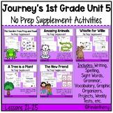 Journey's 1st Grade Unit 5 Supplement No Prep Bundle