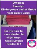 Journey's Vocabulary Cards Kindergarten and 1st Grade Dividers