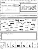 Journey's 1st Grade Week 24 OO, EW, UE activities