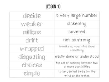 Journeys 2nd Grade Lesson 10, Jellies - Vocabulary Sort