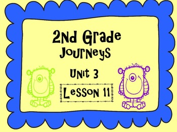 Journey's 2nd Grade Lesson 11 Activities
