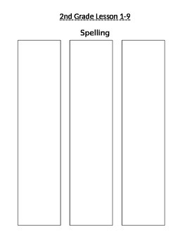 Journey's 2nd Grade Spelling Lessons 1-9