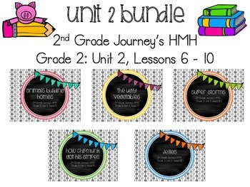 Journey's 2nd Grade Unit 2, Lessons 6 - 10 BUNDLE - supplemental activities
