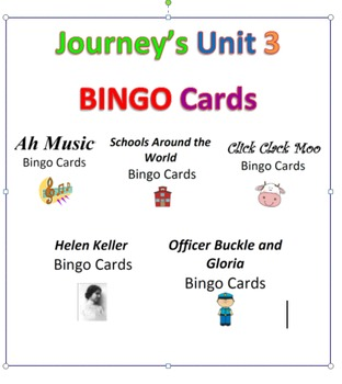 Journey's 2nd Grade Unit 3 BINGO Cards