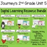 Journey's 2nd Grade Unit 5 Digital Resource Bundle | Distance Learning