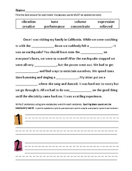 Journey's 2nd Grade Vocabulary and Skills Test Unit 3