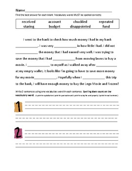 Journey's 2nd Grade Vocabulary and Skills Test Unit 4