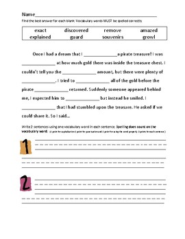 Journey's 2nd Grade Vocabulary and Skills Test Unit 6