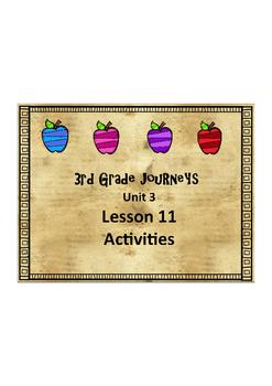 Journey's 3rd Grade Lesson 11 PDF Form