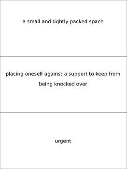 Journey's 4th grade~ Dangerous Crossings Vocabulary