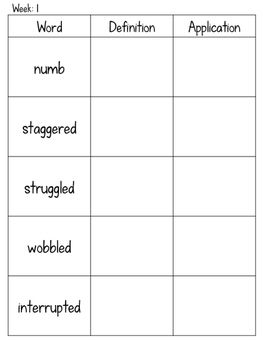 Journey's 5th Grade Vocabulary Activities for Lessons 1-25