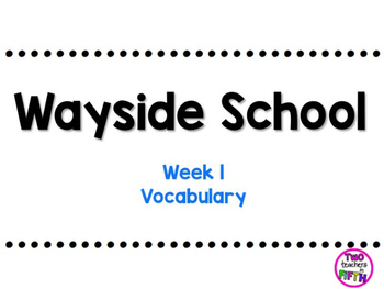 Journey's 5th Grade Vocabulary Lesson: Unit 1, Lesson 1 FREEBIE