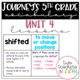 Journey's 5th Grade Vocabulary Lessons: Unit 4