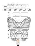 Journey's A Butterfly Grows Spelling Homework