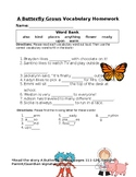 Journey's A Butterfly Grows Vocabulary Homework