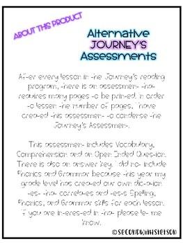Journey's Alternate Assessment Grade 2: Lesson 4 Diary of a Spider