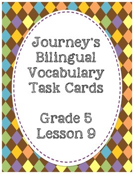 Journey's Bilingual Vocabulary Task Cards