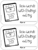 Journey's Common Core Grade 1 - Spelling Booklets Unit 6