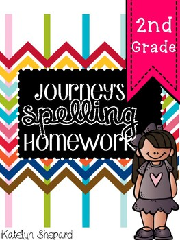 Journey's Companion Complete List of Spelling Words {{Homework for 2nd Grade}}