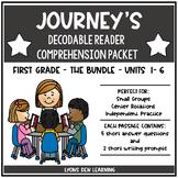 Journey's Decodable Reader Comprehension Packet Bundle