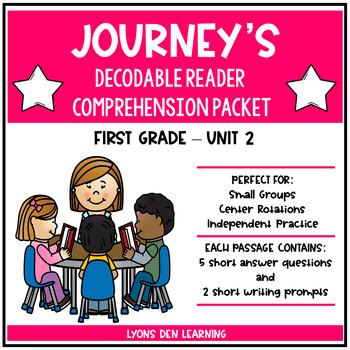 Journey's Decodable Reader Comprehension Packet  - Unit 2