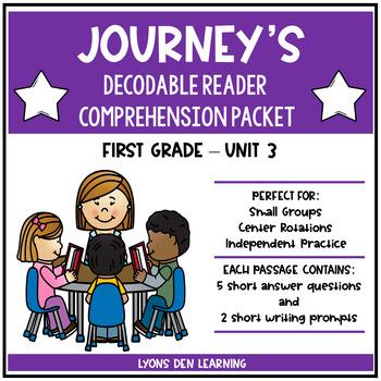 Journey's Decodable Reader Comprehension Packet  - Unit 3