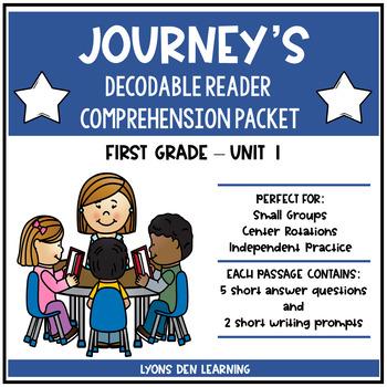 Journey's Decodable Reader Comprehension Packet  - Unit 1