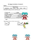 Journey's Dr. Seuss Vocabulary Homework