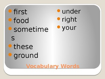 Journey's - First Gr. - Lesson 18 - Where Does Food Come  - Voc & Sp Powerpoint