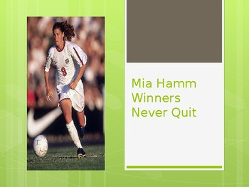 Journey's - First Gr. - Lesson 30 - Mia Hamm Winners   - Voc. & Sp. Powerpoint