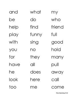 Journey's First Grade HF Word Assessment Words