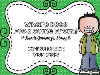 Journey's First Grade Lesson 18 Where Does Food Come From? Comprehension