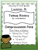 Journey's First Grade Lesson 19 Comprehension Pack