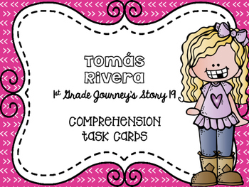Journey's First Grade Lesson 19 Tomás Rivera Comprehension Task Cards