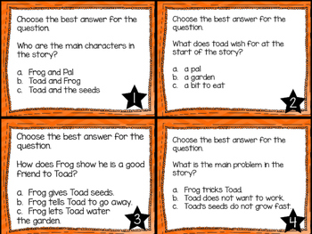 Journey's First Grade Lesson 21 The Garden Comprehension Task Cards