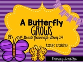 Journey's First Grade Lesson 24 A Butterfly Grows Phonics and Vocab Task Cards