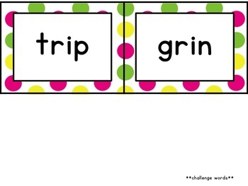 Journey's First Grade Spelling Cards [Bright Polka Dots]