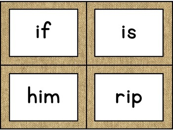Journey's First Grade Spelling Cards [Burlap]