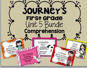 Journey's First Grade Unit 5 Bundle (5 Stories) Comprehens