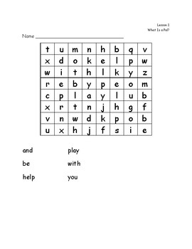 Journey's First Grade Word Searches
