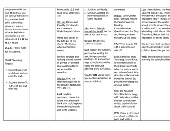 "Journey's Grade 2, Lesson 13 ""Schools Around the World"" editable lesson plan"