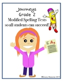 Journey's Grade  2 Modified Spelling Tests: Unit 1