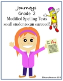 Journey's Grade 2 Modified Spelling Tests: Unit 4