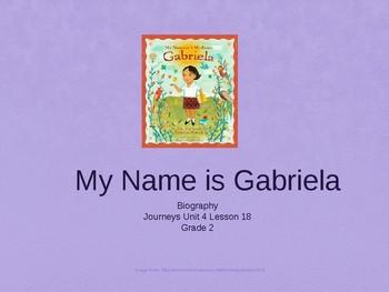 Journey's Grade 2 Unit 4 Lesson 18, My Name is Gabriela