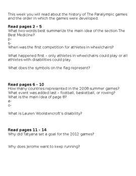 Journey's Grade 3 Guided Reading Questions