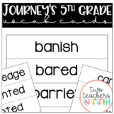 Journey's Grade 5 Vocabulary Cards For Word Wall