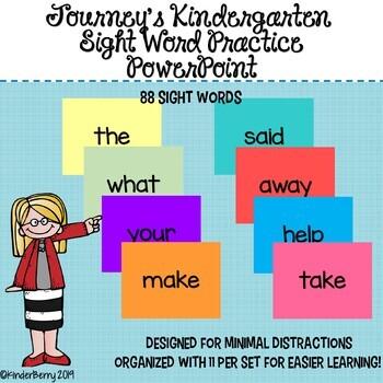 Journey's KG Sight Word Practice PowerPoint